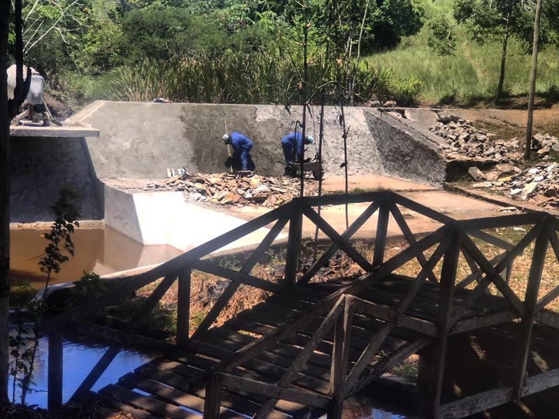 Barragem de Afligidos em São Gonçalo está sendo revitalizada