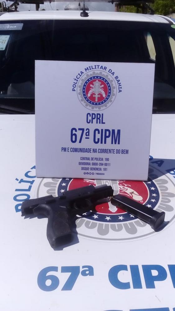67 CIPM apreendeu 4 armas em doze dias em São Gonçalo dos Campos