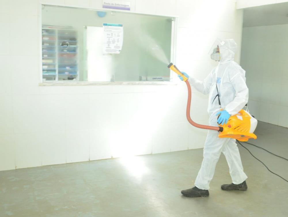Prefeitura de São Gonçalo dos Campos realiza sanitização no Hospital Municipal