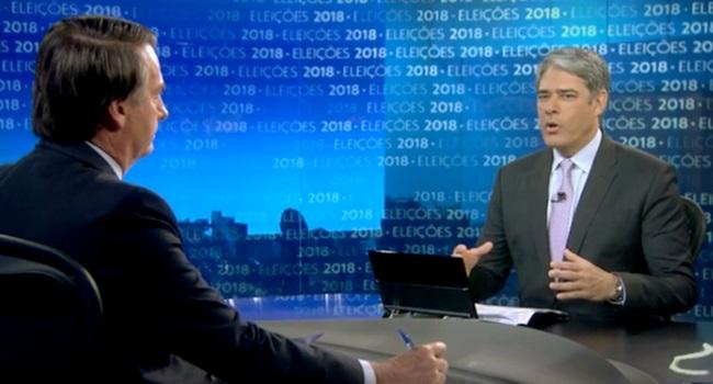 Pesquisa revela que o brasileiro confia mais em Bolsonaro que em Bonner
