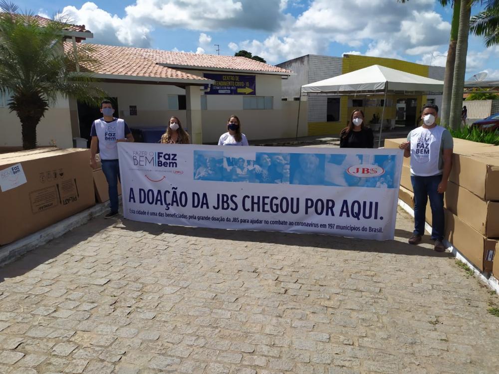 São Gonçalo dos Campos recebe novas doações da JBS