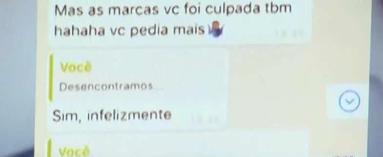 """""""Você pedia mais"""", escreveu Neymar em conversa com modelo"""
