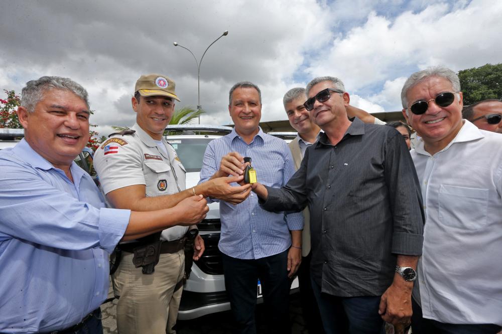Governador Rui Costa entrega viaturas no município de Feira de Santana (30/08/2019)