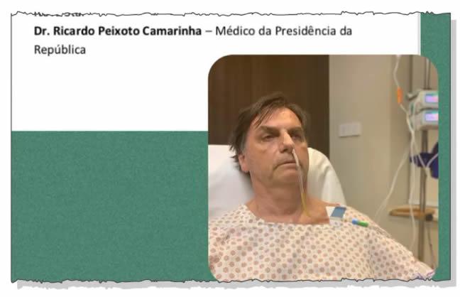 Com distensão abdominal, Bolsonaro tem alimentação via oral suspensa