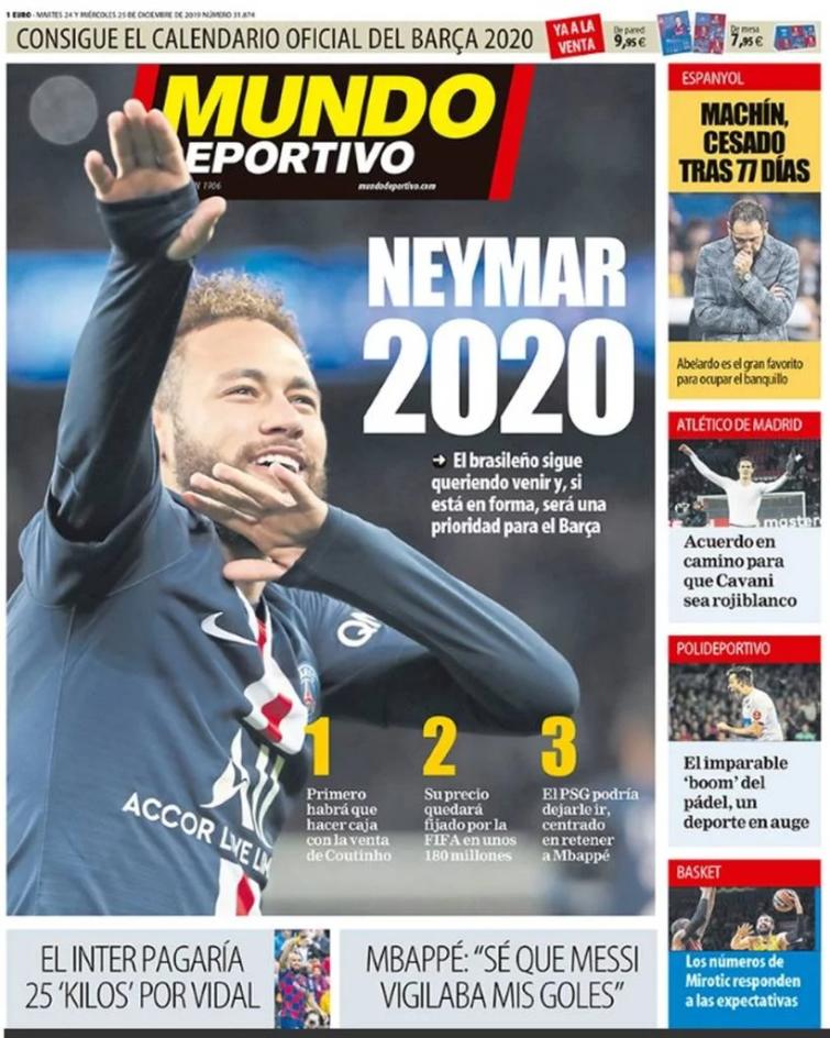 Jornal espanhol coloca Neymar na mira do Barcelona para 2020
