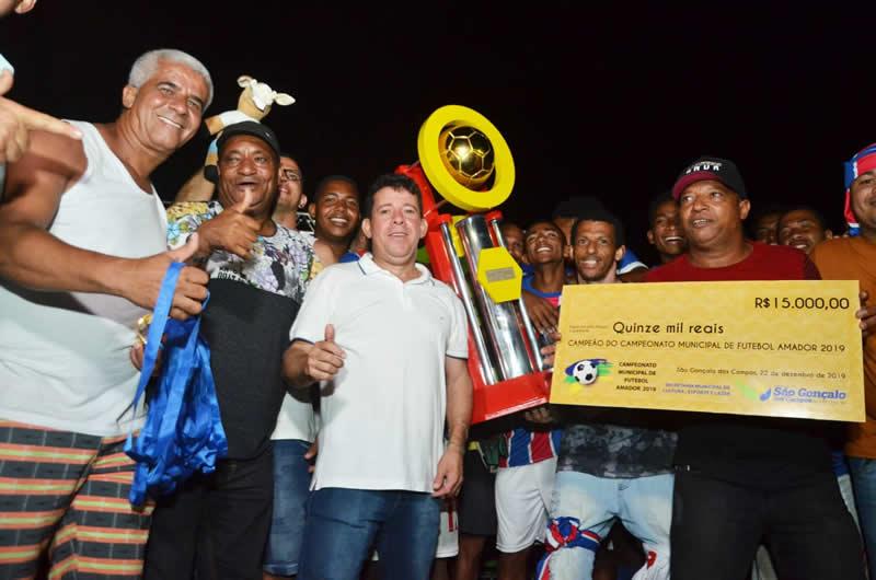 Bahia vence Campeonato Municipal de Futebol Amador de São Gonçalo dos Campos