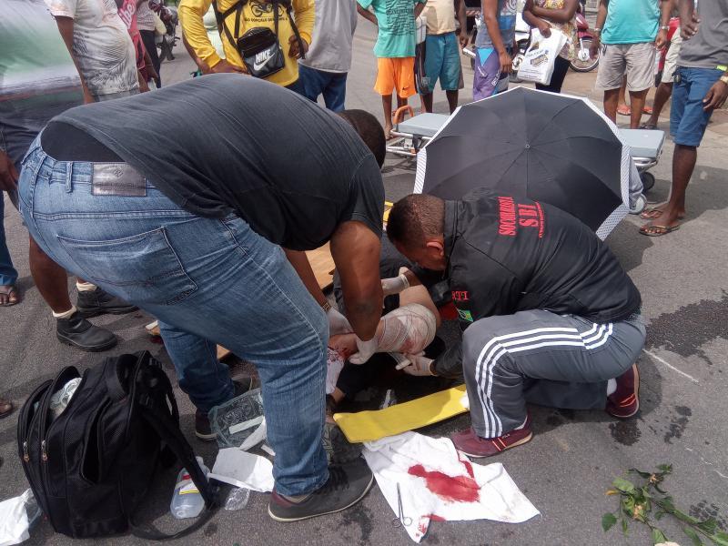 Acidente de moto em São Gonçalo (animal na estrada)
